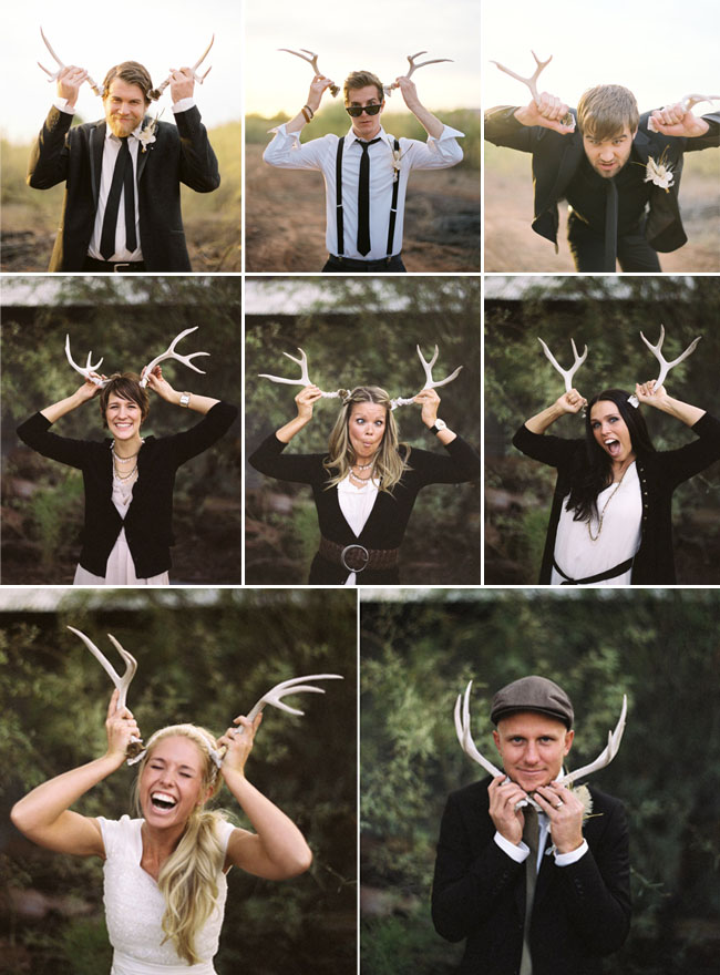 antlers for photo booth wedding