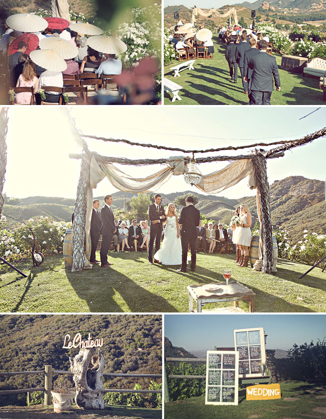 outdoor ceremony on a mountain