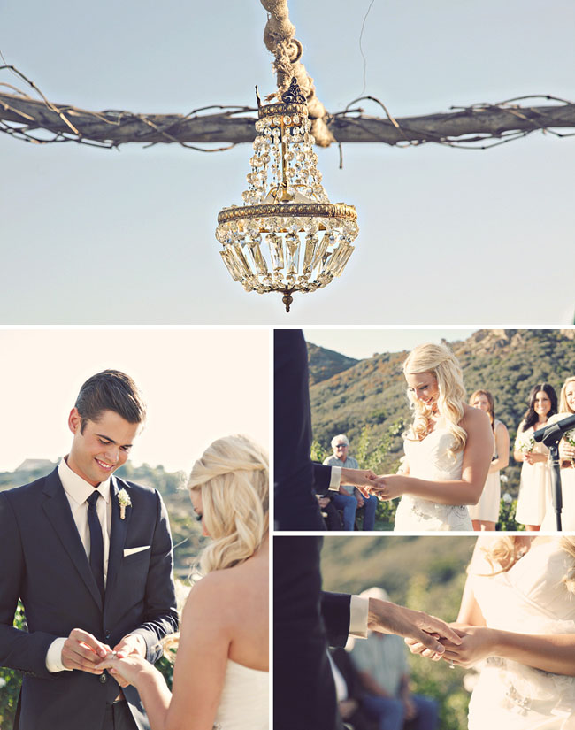 chandelier outdoors wedding