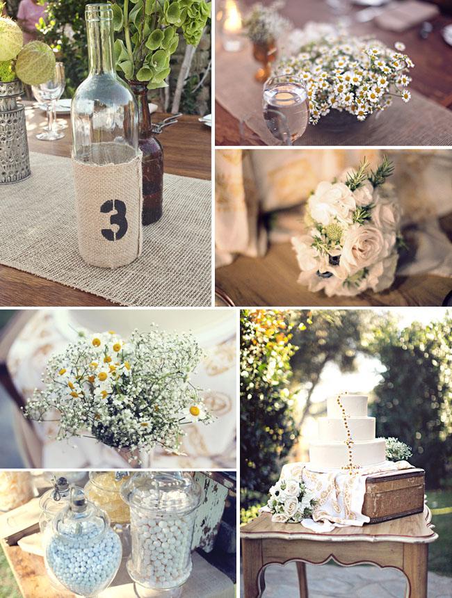 burlap vases