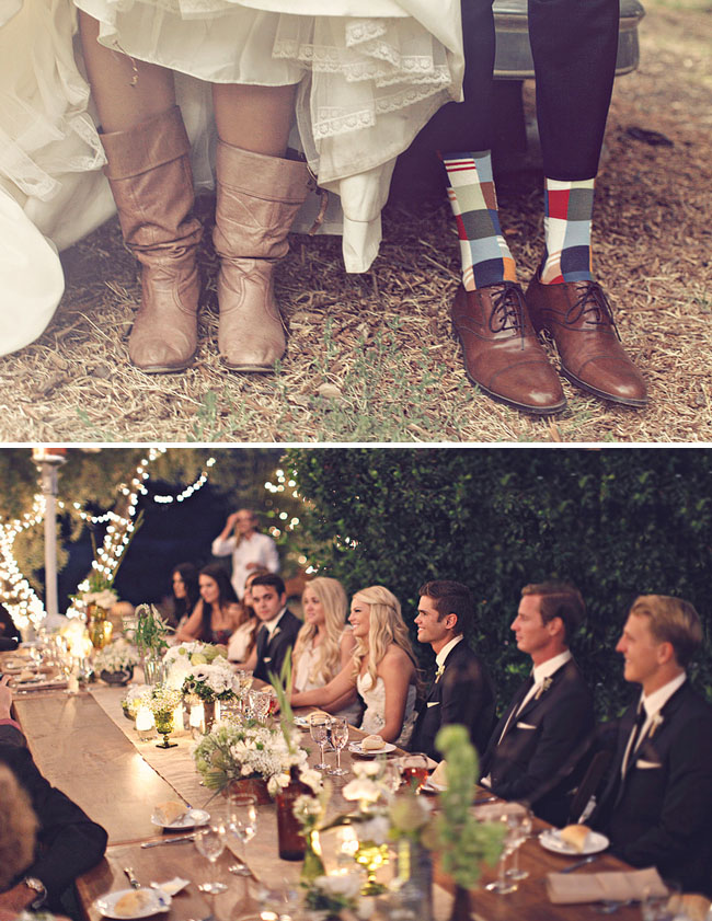 groom in fun socks
