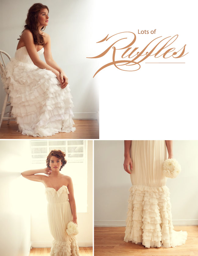 sarah seven wedding dress ruffles
