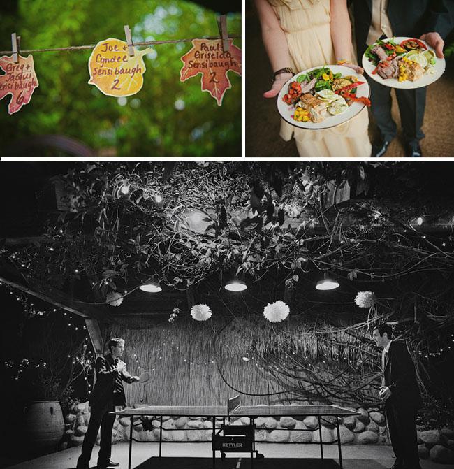 ping pong at wedding