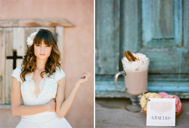 bride with coffee