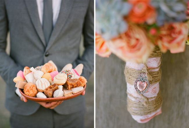 groom with cookies