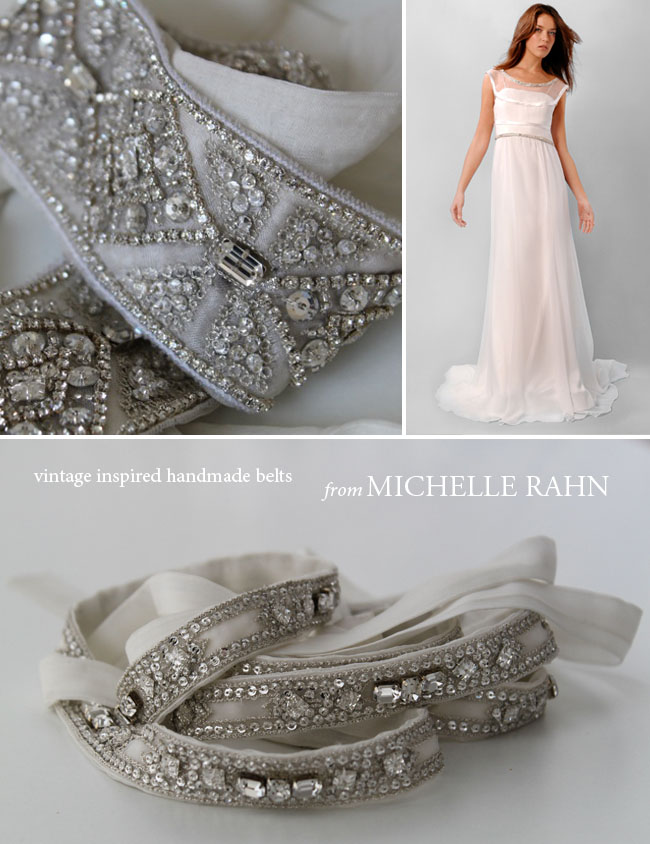crystal handmade wedding belts