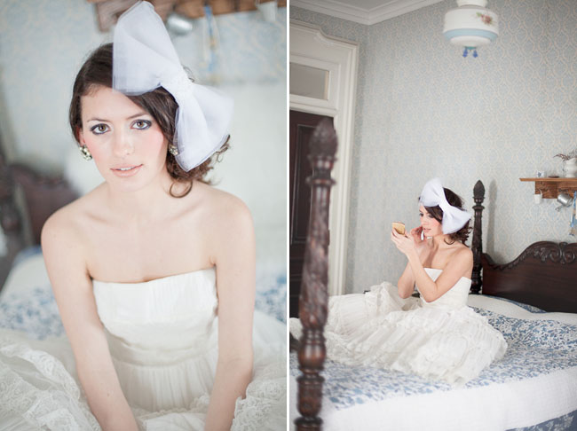 bride with big bow