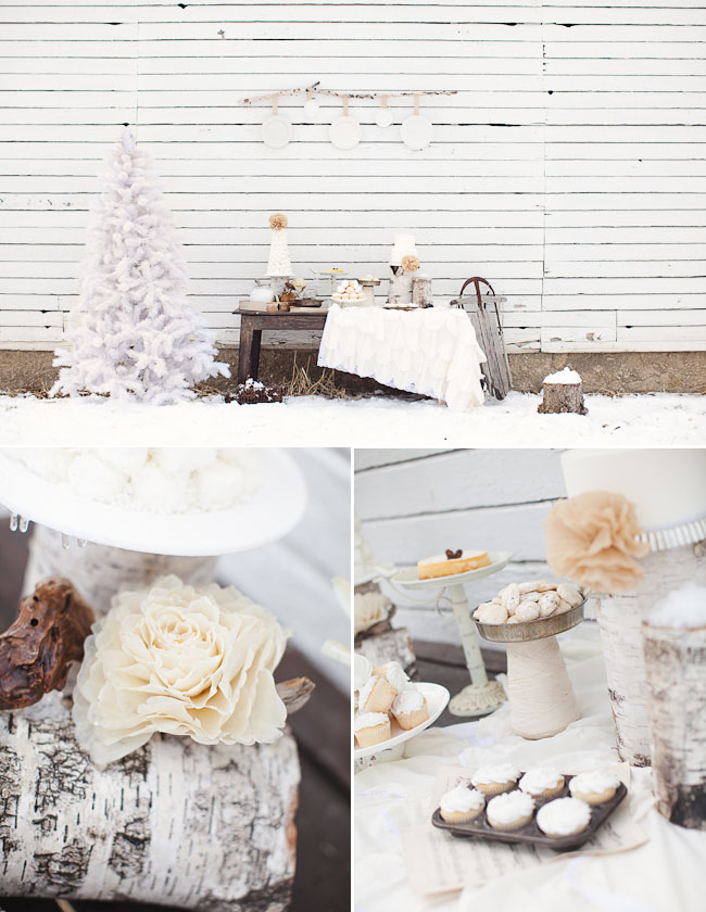 winter dessert table outdoor