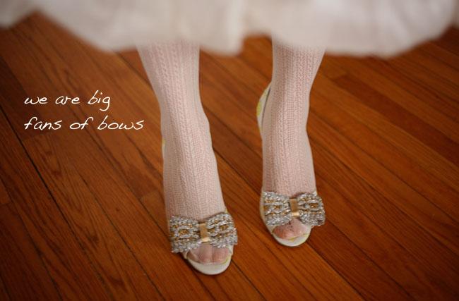 vintage bow wedding shoes bhldn