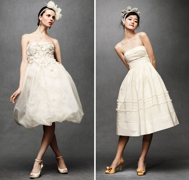 bhldn wedding dress short