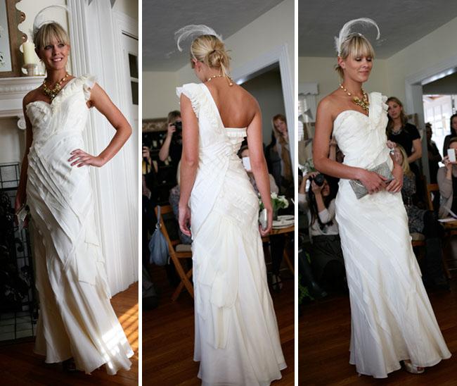 ribbon silk wedding dress