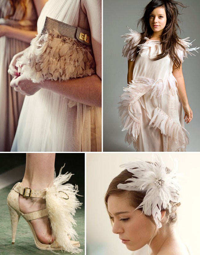 white feathers wedding