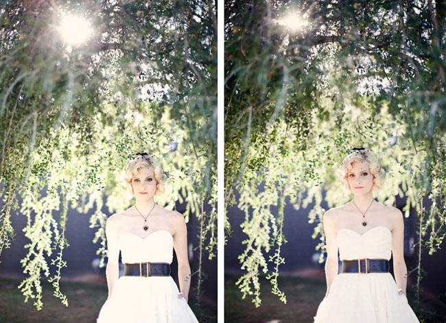 bride with belt