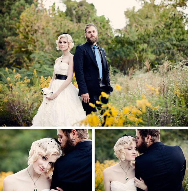 bride in belt with wedding dress