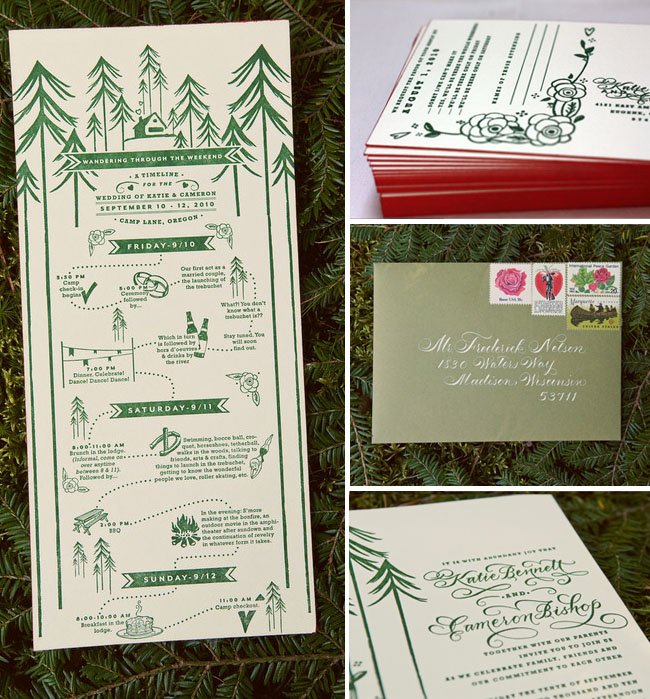 camp wedding invitations