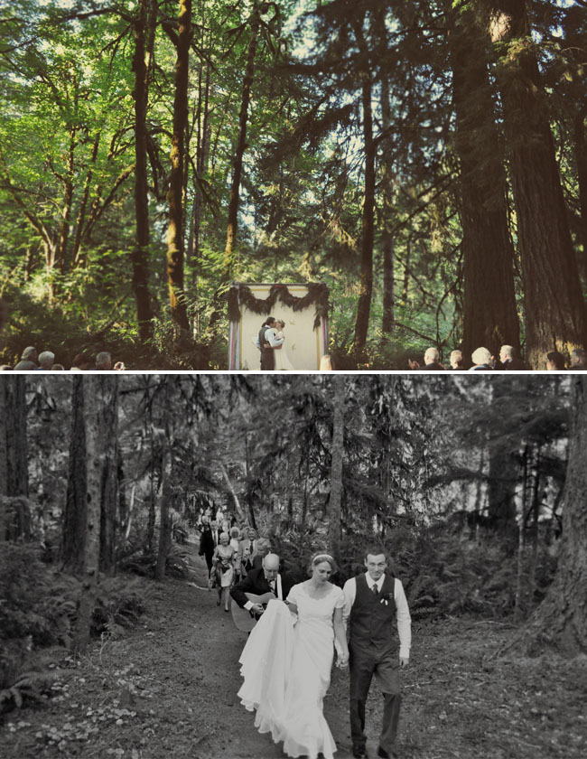 outdoor weddings in the woods