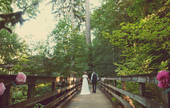 wedding on a bridge