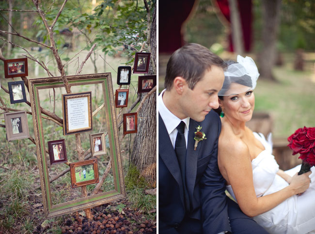 wooden frames in the woods