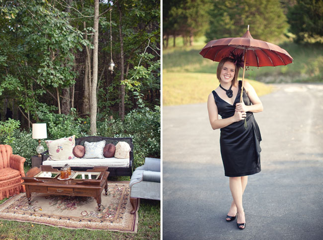 wedding guest with parasol