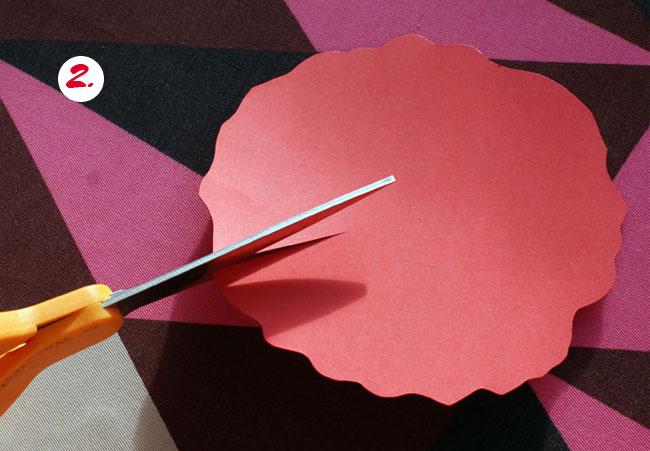 second step for flower tea light