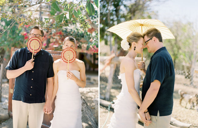 couple with parasol