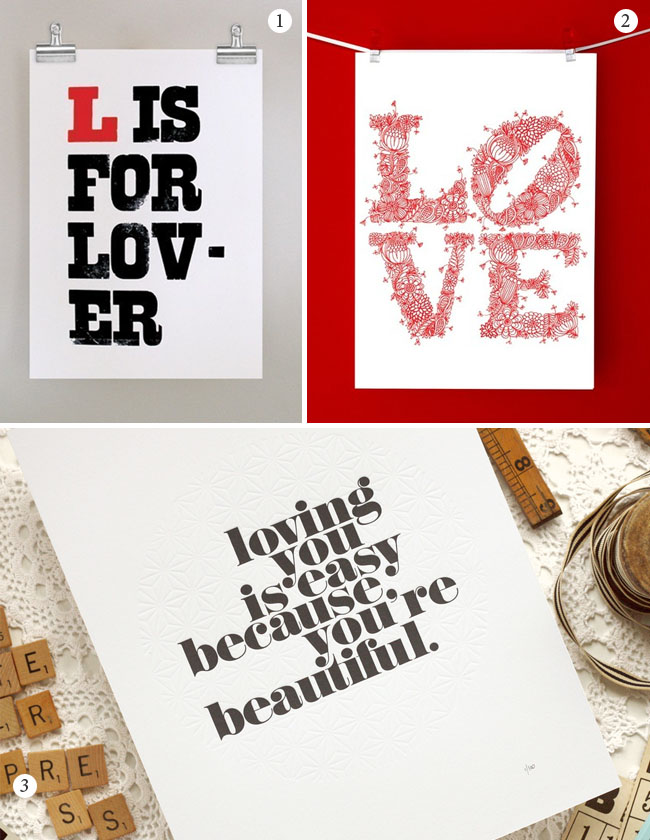 Love Posters For Valentines Day And Wedding Decor Green Wedding