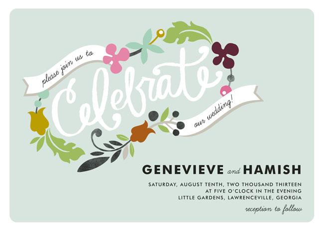 minted custom designed invitations