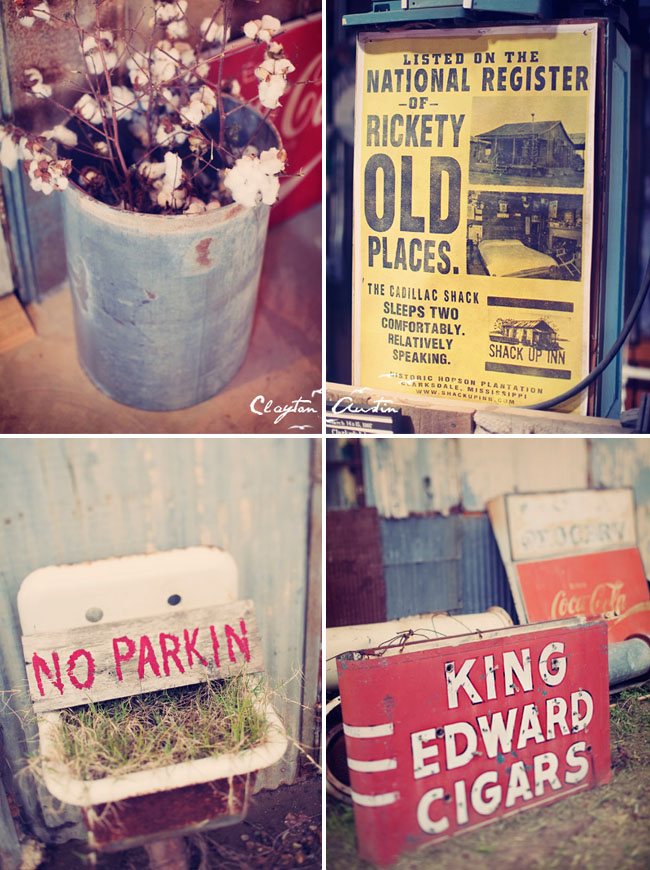 old signs at wedding ceremony