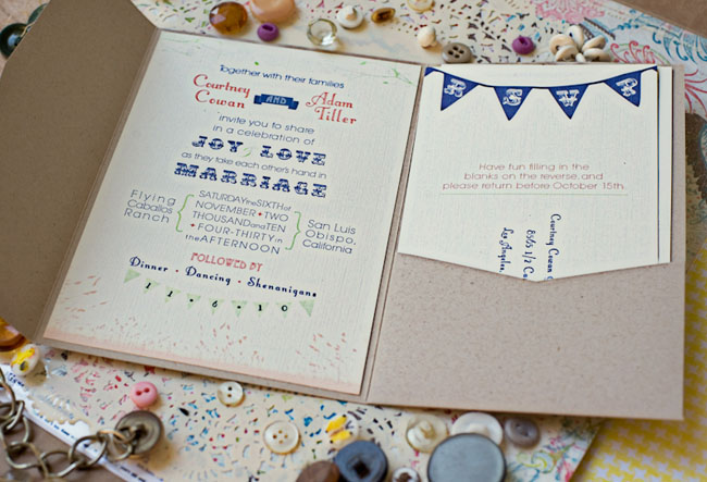 wedding invitation bunting