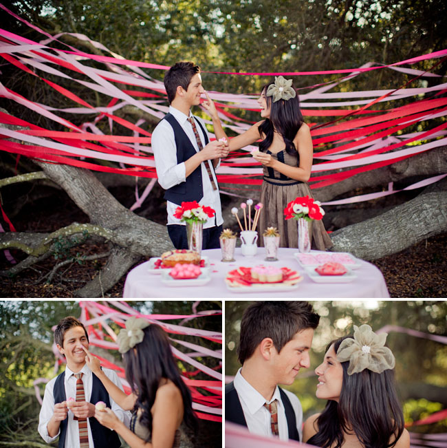 dessert table for couple in love