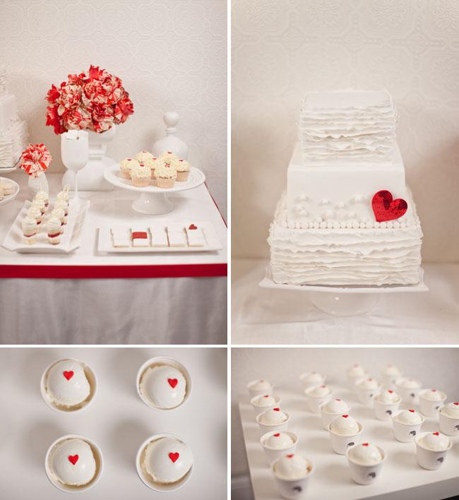 red heart bando cake