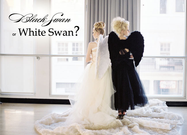 black swan wedding ideas