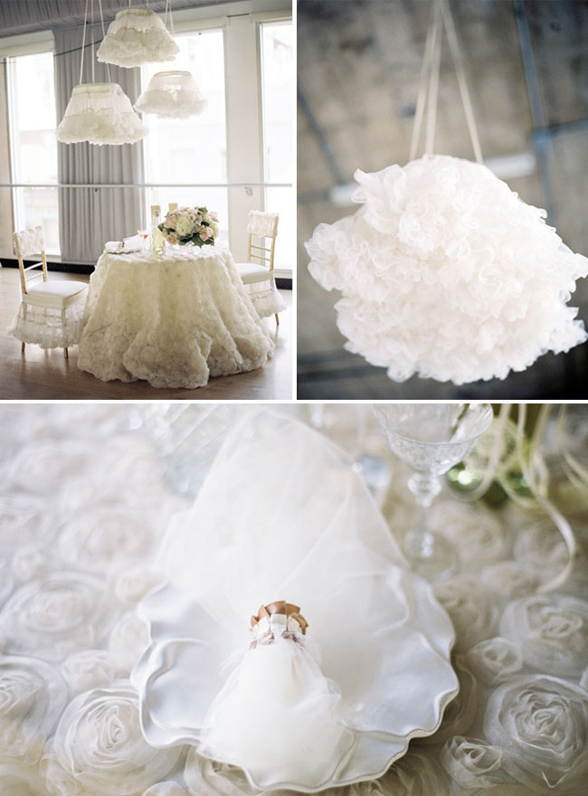 tutus hanging from ceiling