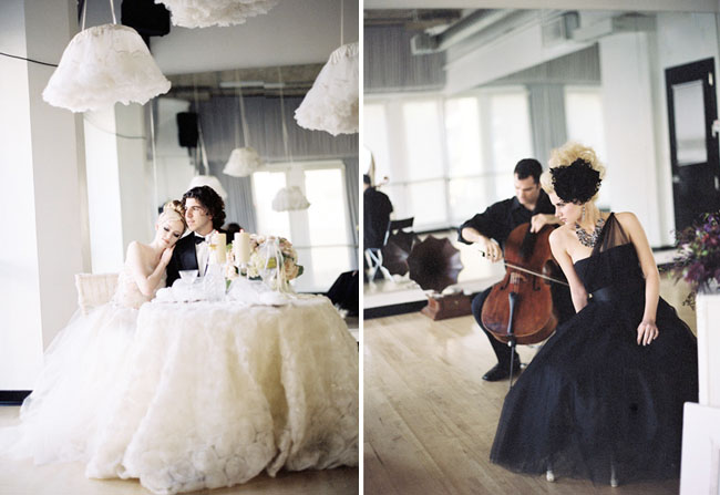 wedding at ballet studio