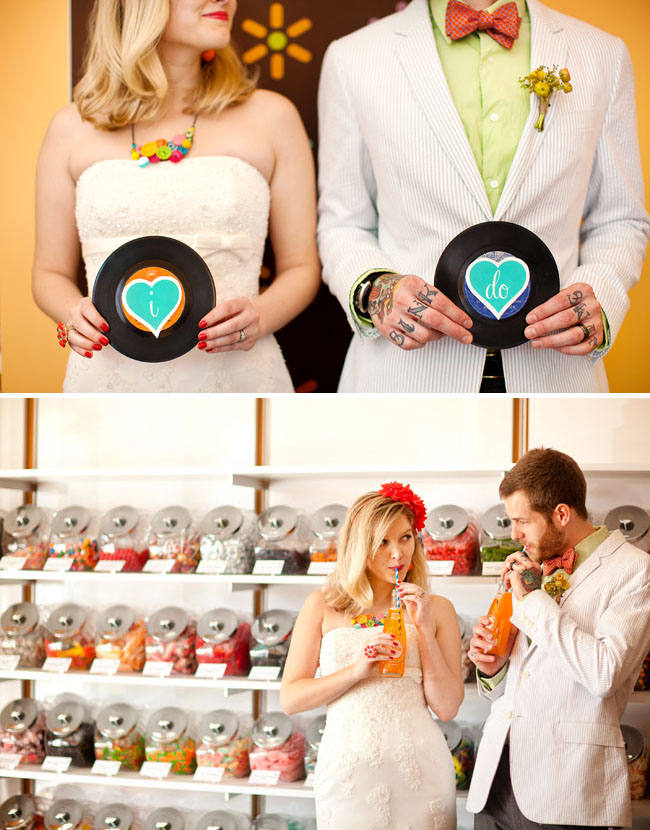 Retro candy love fun wedding ideas from the candy shop for 50s wedding decoration ideas