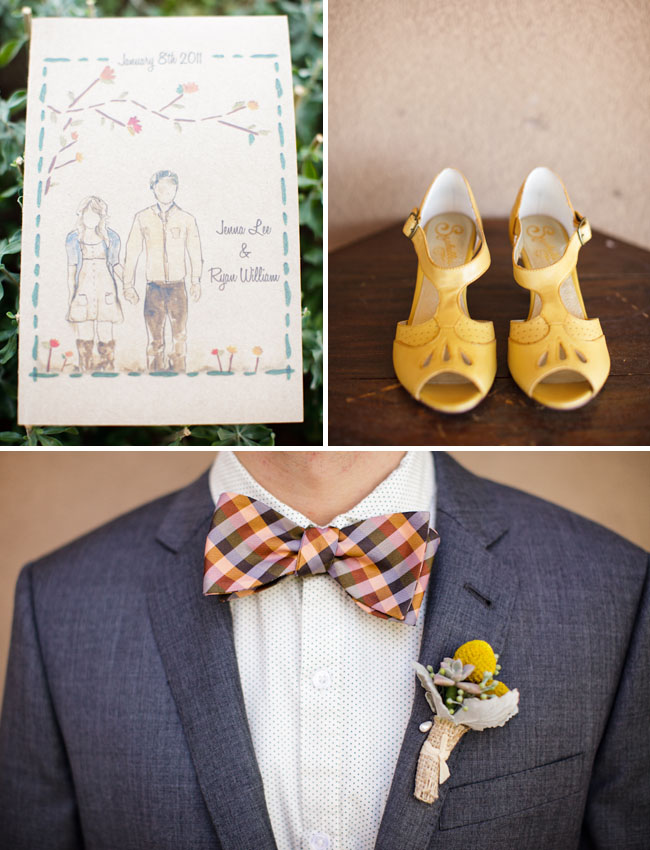 colorful bow tie for wedding
