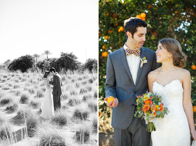 wedding in orange grove