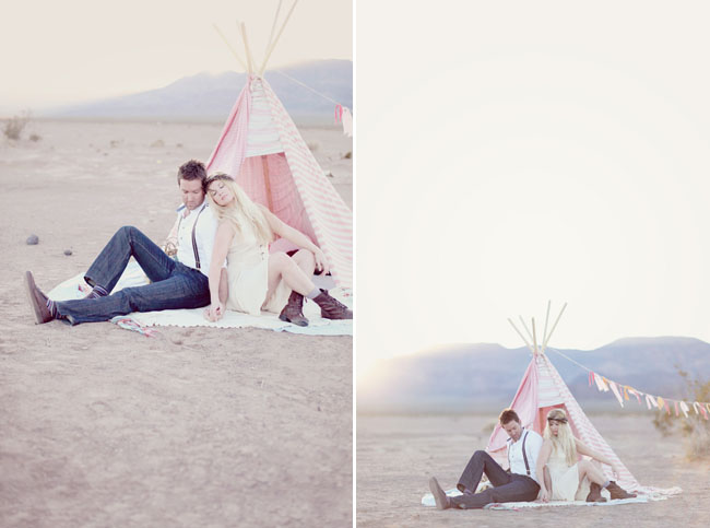 couple with teepee