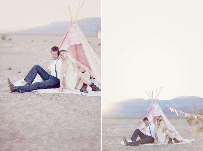 couple with teepee