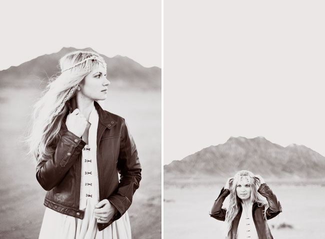 desert with leather jacket