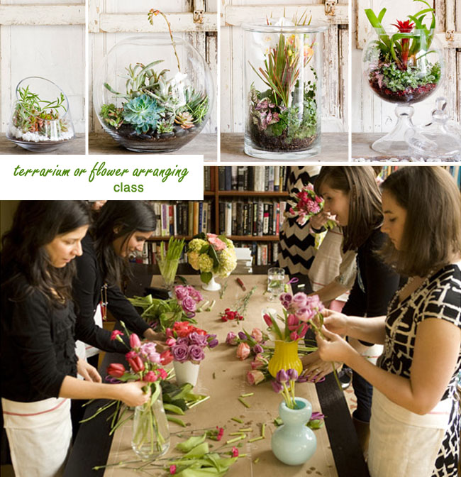 terrarium making bachelorette party