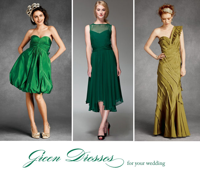 Lucky In Love With A Green Wedding Dress