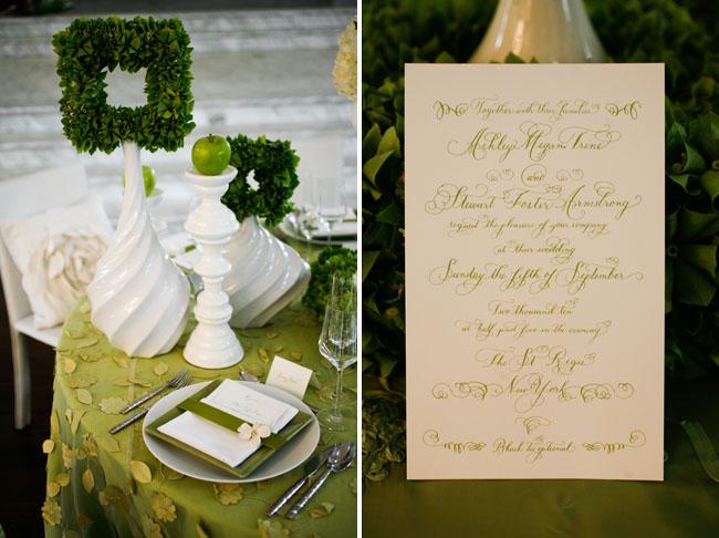 green calligraphy