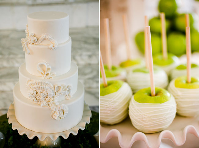 Green white wedding ideas green candy apples junglespirit Gallery