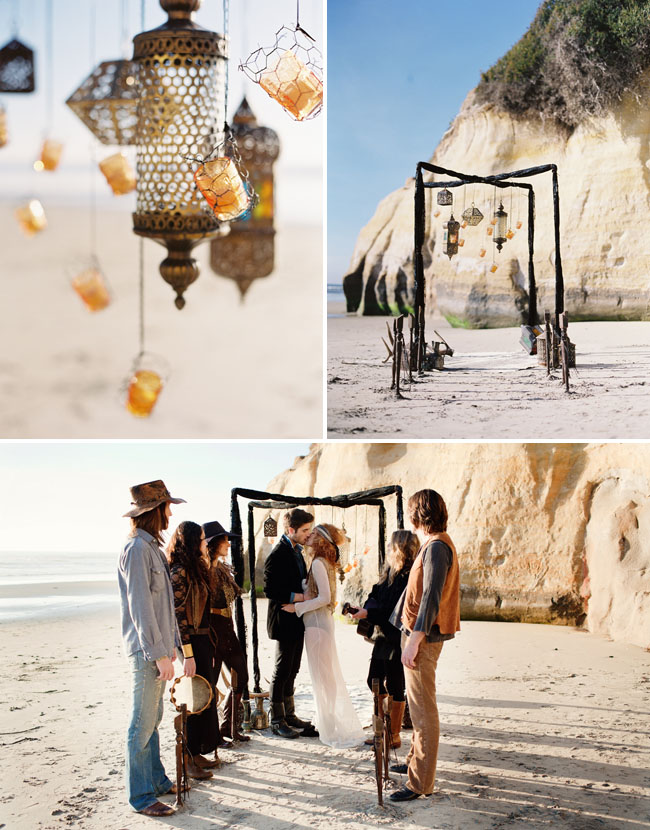 Bohemian Beach Wedding Ideas Green Wedding Shoes