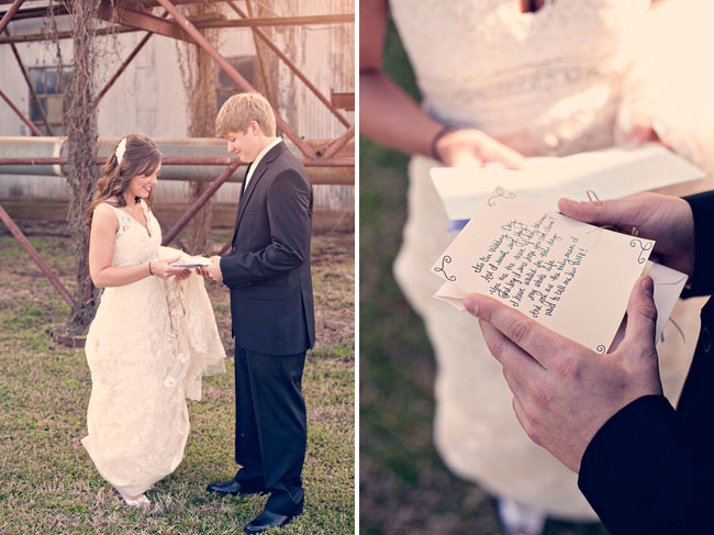 wedding sharing letters