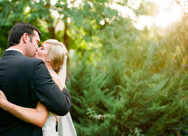 couple hugging after wedding