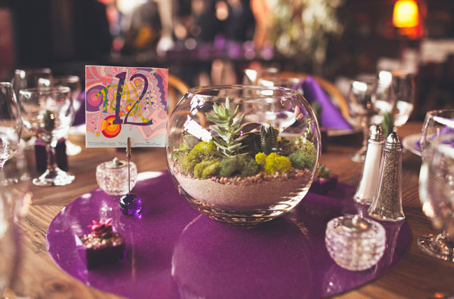 terrarium at wedding centerpiece