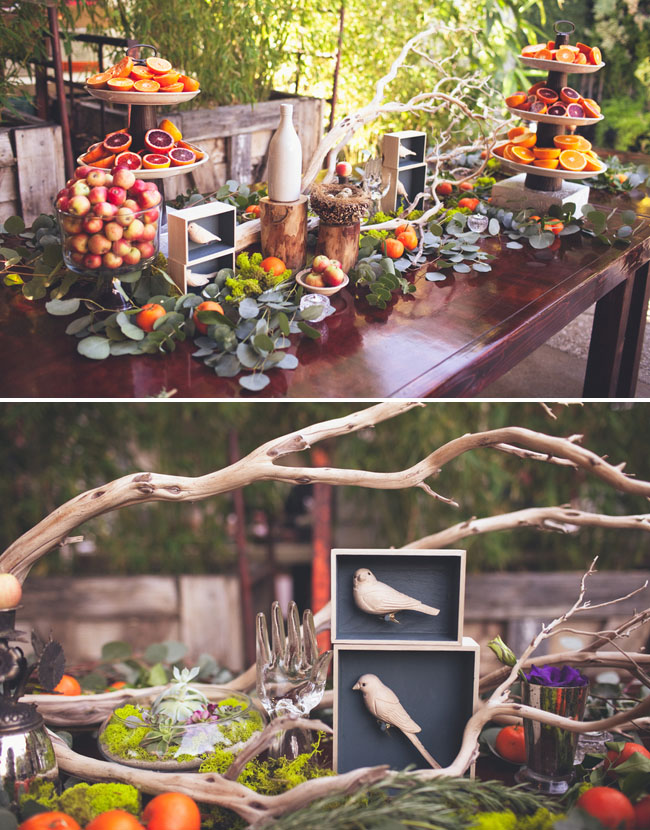 wedding decor birds
