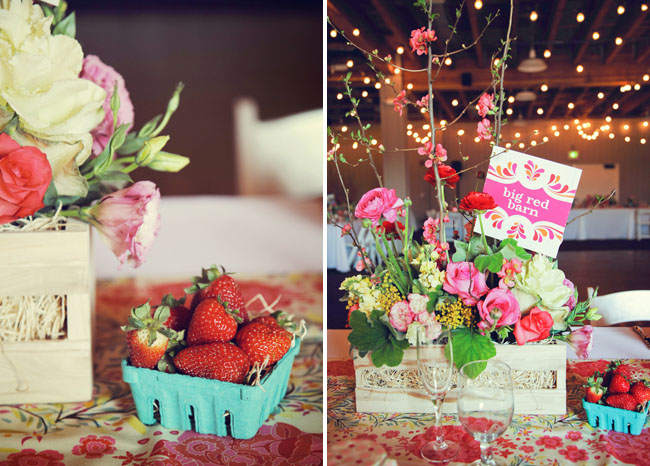 strawberries wedding